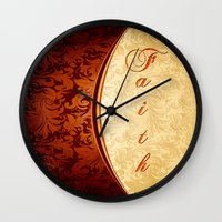 faith Wall Clocks featuring Faith by Tami Cudahy