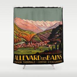 Allevard France - Vintage Travel Poster Shower Curtain