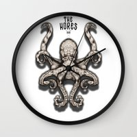 kraken Wall Clocks featuring Kraken by The Hores