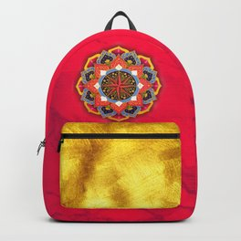 """""""Rose of the Winds"""" Pink mandala by Ilse Quezada Backpack"""