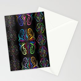 Colorful ornament Stationery Cards