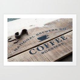 Coffee Crate Art Print