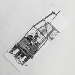 Snow Lift // Ski Chair Lift Colorado Mountains Black and White Snowboarding Vibes Photography Yoga Mat