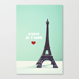 Paris Je T'aime Canvas Print