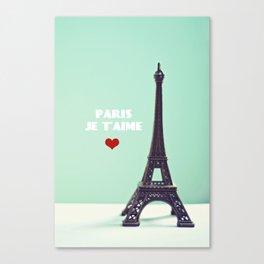Paris Je T'aime Canvas Print