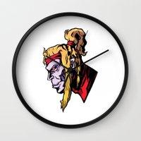 xmen Wall Clocks featuring x28 by jason st paul