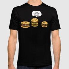Burger Bullies Black Mens Fitted Tee LARGE
