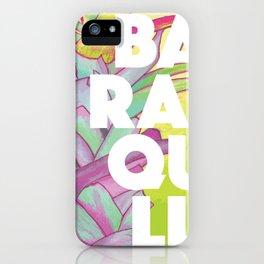Baranquilla Travel Poster iPhone Case