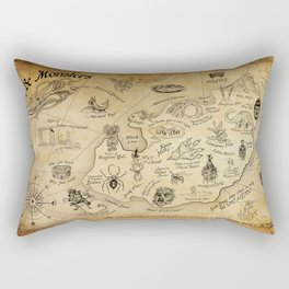Here Be Monsters Rectangular Pillow