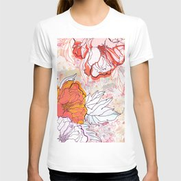 Abstract Floral Illustration T-shirt