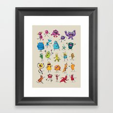 Fruity Monsters Set 2 Framed Art Print
