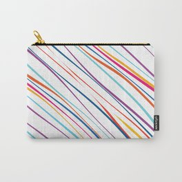 Colorful hand-drawn wavy lines pattern Carry-All Pouch
