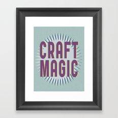 Craft Magic // Berry Framed Art Print