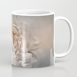 Blushing Silver and Gold Peony - Floral Coffee Mug