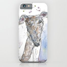 Squiggly dog. iPhone Case