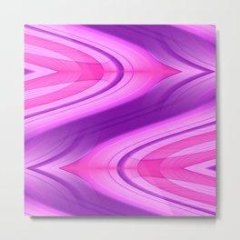 Pink and Purple Asymmetry 1 Metal Print