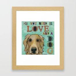 Love Dog Framed Art Print