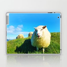 Sheeps in Iceland with Green Field Laptop & iPad Skin