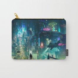 Cyberpunk City Carry-All Pouch