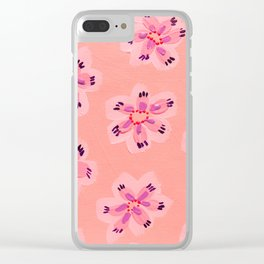 Coral Emily Claire Clear iPhone Case