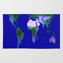 World Map : Gall Peters Rug