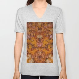 Autumn leaves in abstract Unisex V-Neck
