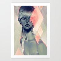loish Art Prints featuring Blush by loish