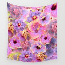 Tropical hibiscus patterns Flower Floral Flowers Wall Tapestry