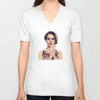 lana V-neck T-shirts featuring Lana by MartaDeWinter