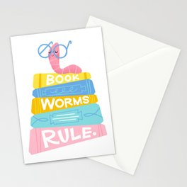 Bookworms Rule Stationery Cards