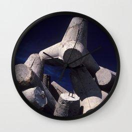 Concrete port attachment Wall Clock