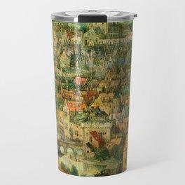 The Tower of Babel (detail) by Pieter Bruegel the Elder Travel Mug