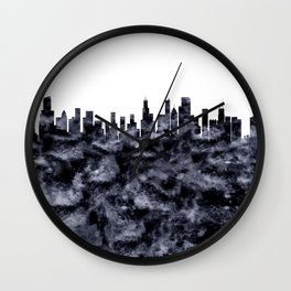 Chicago Skyline Illionois Wall Clock