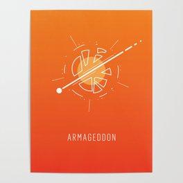 Armageddon - minimal space Poster