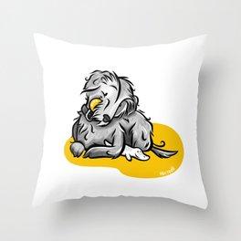 Pipa the Maltese Dog Throw Pillow
