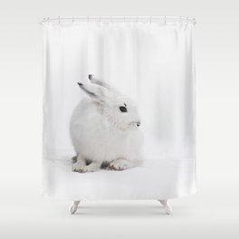 SNOW BUNNY  - ARCTIC HARE Shower Curtain