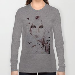 Autumn - Portrait of a Woman in Nature Long Sleeve T-shirt