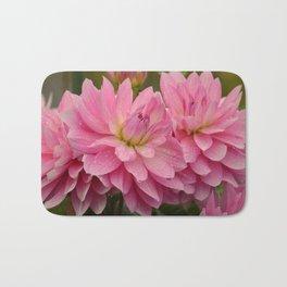 Fresh Rain Drops - Pink Dahlia Bath Mat