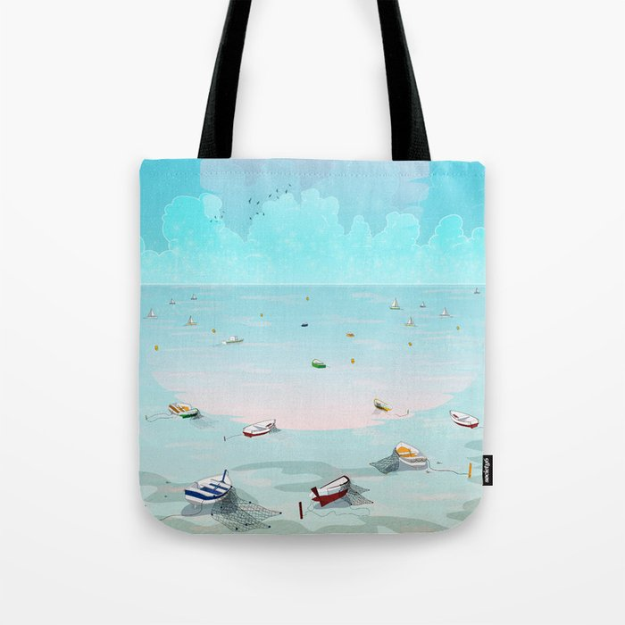 Between two waters Tote Bag