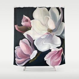 Magnolia Blooms Shower Curtain