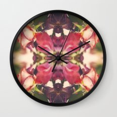 Sunset of Roses Wall Clock