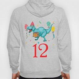 12th Birthday For Boys Dinosaur Birthday Hoody