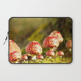 Beautiful but toxic - Fly agaric - Amanita - Autumn illustration - #society6 #buyart Laptop Sleeve