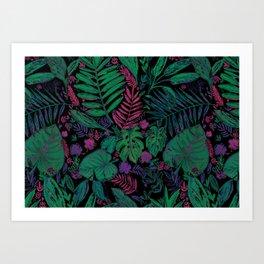 Dark jungle Art Print