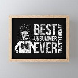 Best Unsummer Ever Mask Framed Mini Art Print