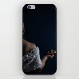 Woman with pomegranate and butterflies iPhone Skin