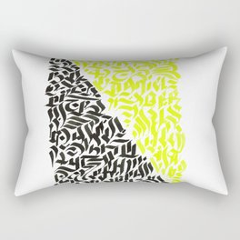 black and yellow calligraffiti pattern Rectangular Pillow
