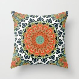 Disturbed Mandalic Patchwork Mandala Throw Pillow