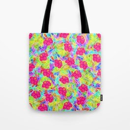 Hawaiian Pink Flowers Tote Bag