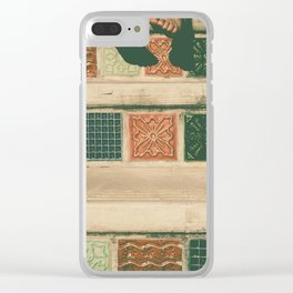 Tiny legs of child on vintage stairs - vintage tone Clear iPhone Case